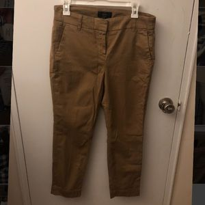 J. Crew cropped pant in stretch chino